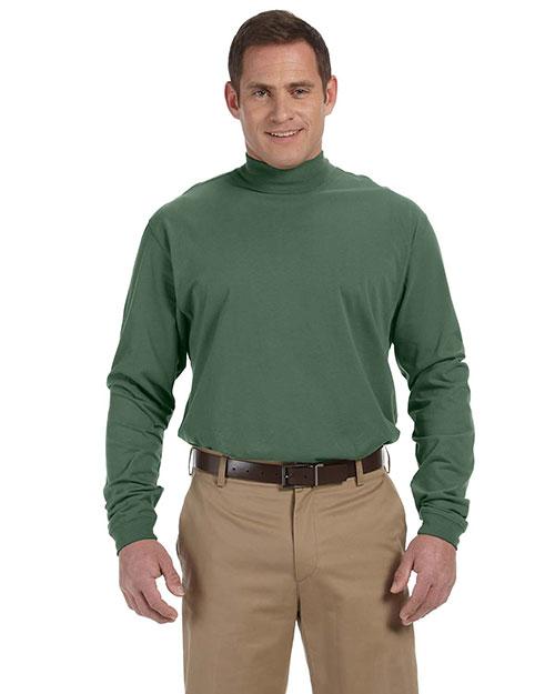 Cotton jersey mock turtleneck tee shirt devon jones for Mens mock turtleneck shirts