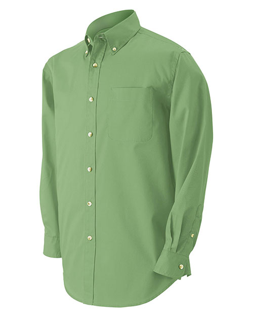 Devon & Jones Classic D555 Men Performance Long Sleeve Twill Ivy at GotApparel