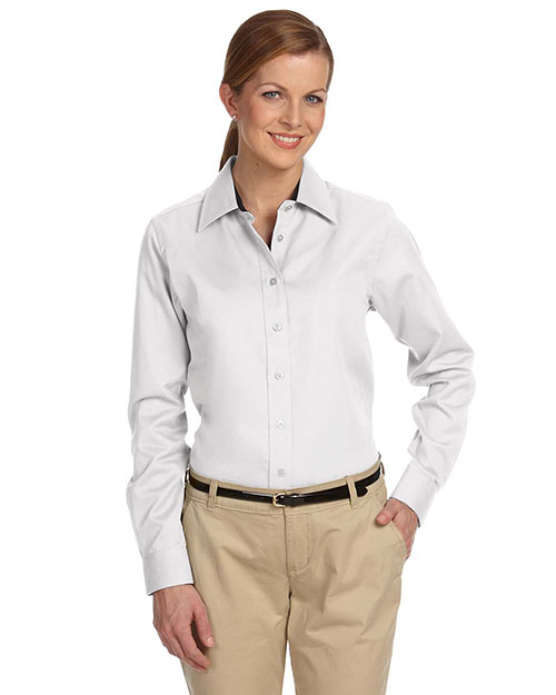 Devon & Jones Classic D610W Women Pima Advantage Twill White at GotApparel