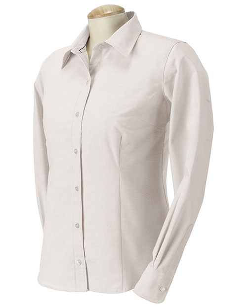 Devon & Jones Classic D655W Women Performance Oxford Sterling at GotApparel