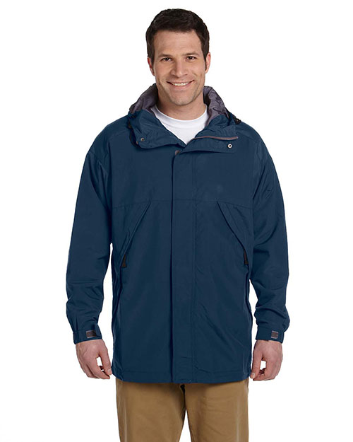 Devon & Jones Classic D735 Men ThreeSeason Sport Parka Navy at GotApparel