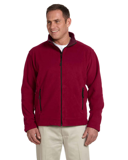 Devon & Jones Classic D765 Men Soft Shell Fleece Jacket Crimson at GotApparel