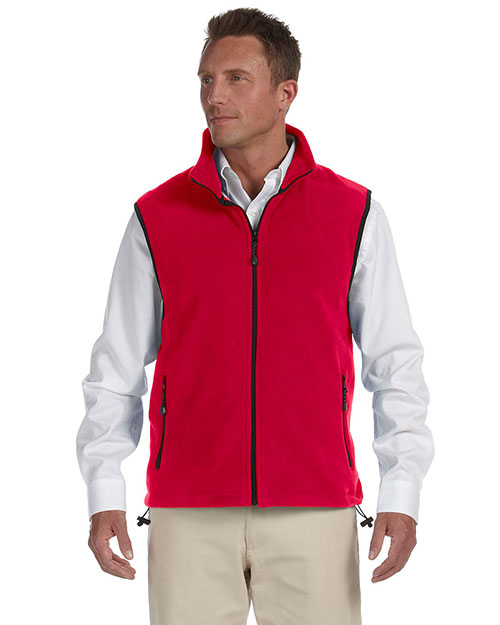Devon & Jones Classic D770 Men Wintercept Fleece Vest Jacket Red at GotApparel