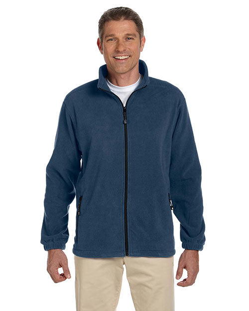 Devon & Jones Classic D780 Men Wintercept FullZip Fleece Jacket Navy at GotApparel