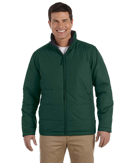 Devon & Jones Classic D785 Men Classic Reversible Jacket Dark Green at GotApparel