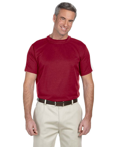 Devon & Jones Sport DG370 Men DriFast Advantage Mesh Mock Crimson/White at GotApparel