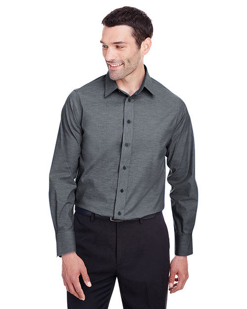 Devon & Jones DG562 Men Crown Collection Stretch Pinpoint Chambray Shirt at GotApparel