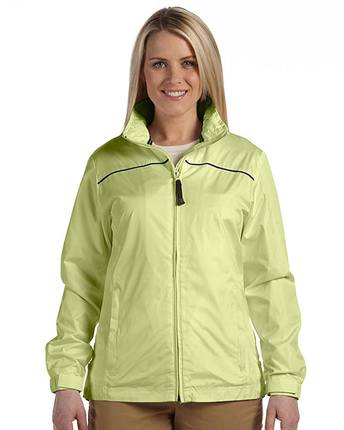 Devon & Jones Sport DG795W Women Element Jacket Sprng Grass/New Nvy at GotApparel