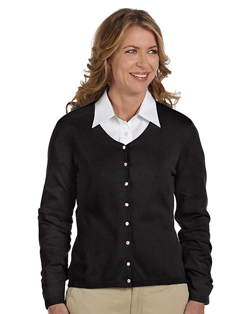 Devon & Jones Pink DP450W Women Everyday Cardigan Sweater Black at GotApparel