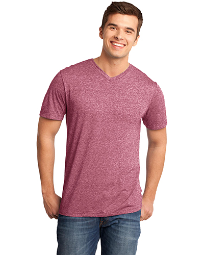 District DT161 Men  Microburn   VNeck Tee Sangria at GotApparel