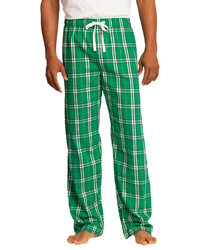 District DT1800 Men  Flannel Plaid Pant Kelly Green at GotApparel