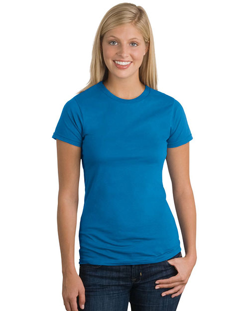District DT200 Women Threads Short Sleeve Perfect Weight Tee Bright Turquoise at GotApparel