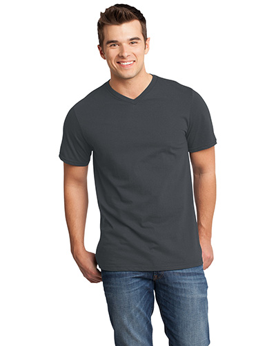 District DT6500 Men  Very Important Tee   VNeck Charcoal at GotApparel