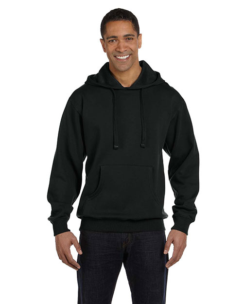 Econscious EC5500 Men 9 oz. Organic/Recycled Pullover Hood Black at GotApparel