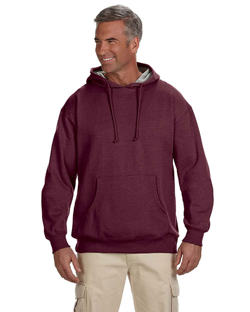 Econscious EC5570 Adult 7 oz. Organic/Recycled Heathered Fleece Pullover Hood Berry at GotApparel