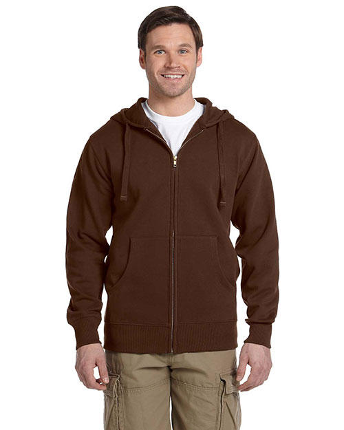 Econscious EC5650 Men 9 oz. Organic/Recycled Full Zip Hood Earth at GotApparel