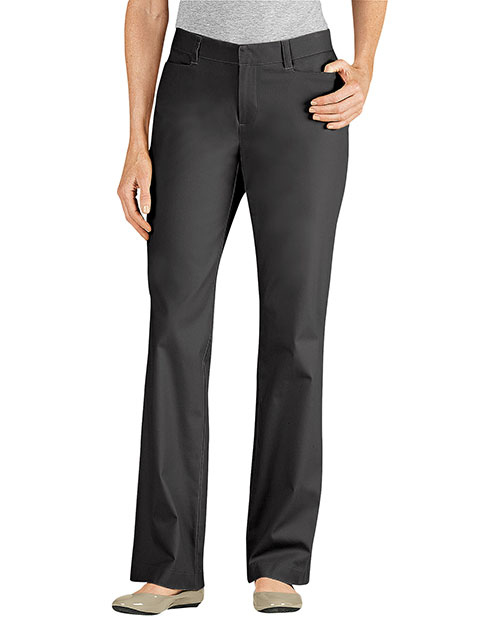 Dickies FP342 Women Curvy Fit Straight Leg Flat Front Pant at GotApparel