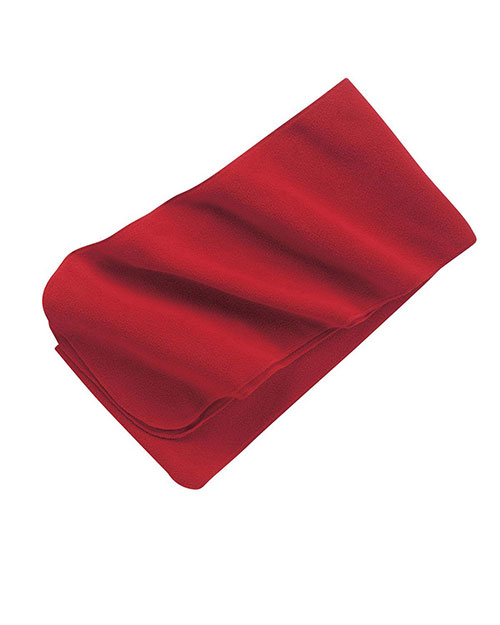 Port Authority FS03  Unisex Extra Long Fleece Scarf Red at GotApparel