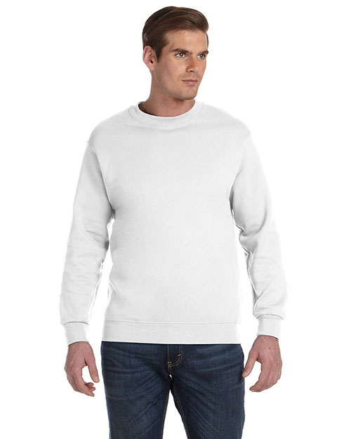 Gildan G120 Men DryBlend 9.3 oz., 50/50 Fleece Crew White at GotApparel