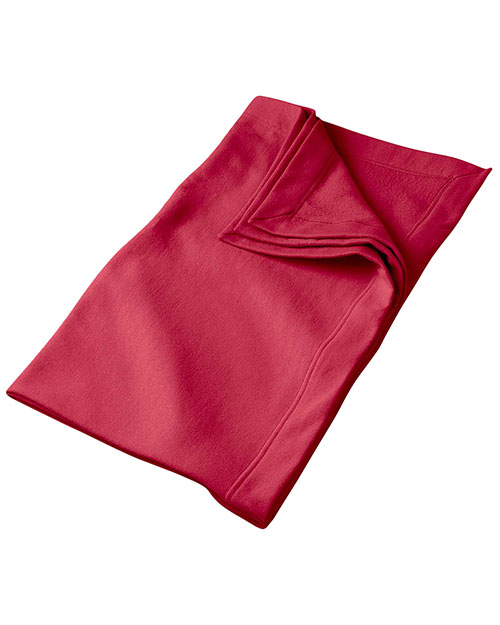 Gildan G129 Unisex DryBlend 9.3 oz. Fleece Stadium Blanket Cardinal Red at GotApparel