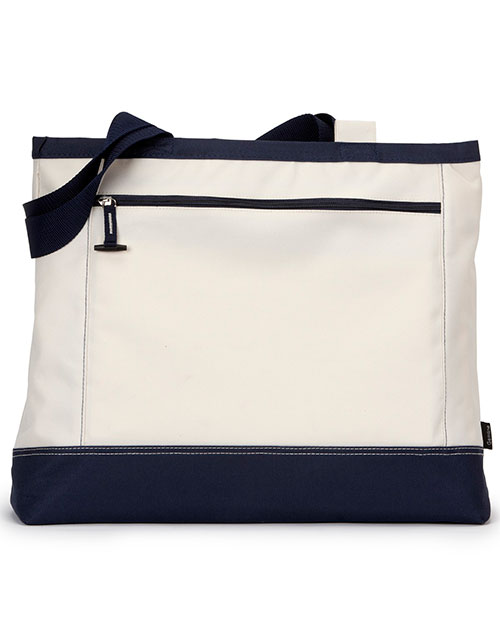 Gemline G1510 Utility Tote Natural/Navy at GotApparel