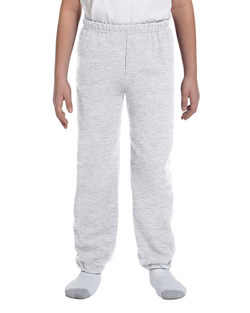 Gildan G182B Boys Heavy Blend 8 oz., 50/50 Sweatpants Ash at GotApparel