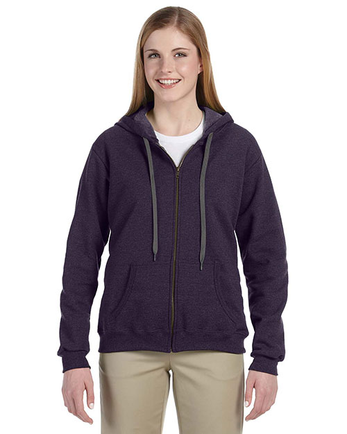 Gildan G187FL Women Heavy Blend 8 oz. Vintage Classic Full Zip Hood Blackberry at GotApparel