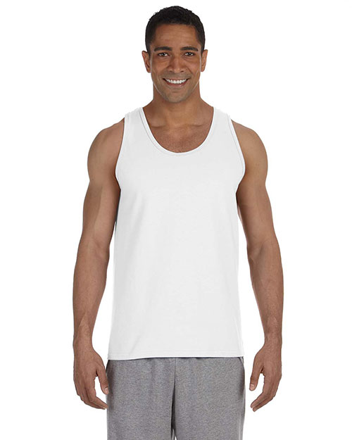 Gildan G220 Men Ultra Cotton 6 oz. Tank White at GotApparel