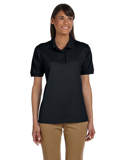 Gildan G380L Women's Ultra Cotton® 6.5 oz. Pique Polo Black at GotApparel