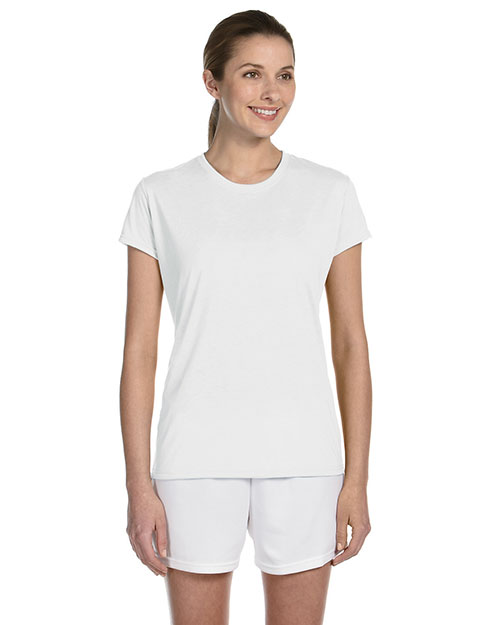 Gildan G420L Women Performance 4.5 oz. T-Shirt White at GotApparel