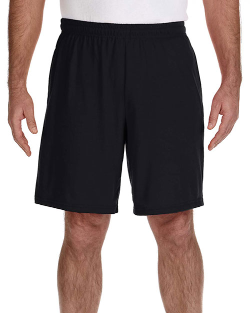 Gildan G44S30 Men Performance 5.5 oz. Nine Inch Short with Pocket Black at GotApparel