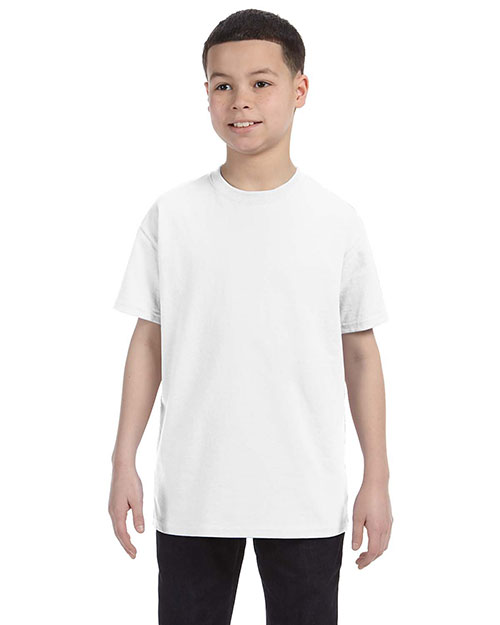 Gildan G500B Boys Heavy Cotton 5.3 oz. T-Shirt White at GotApparel