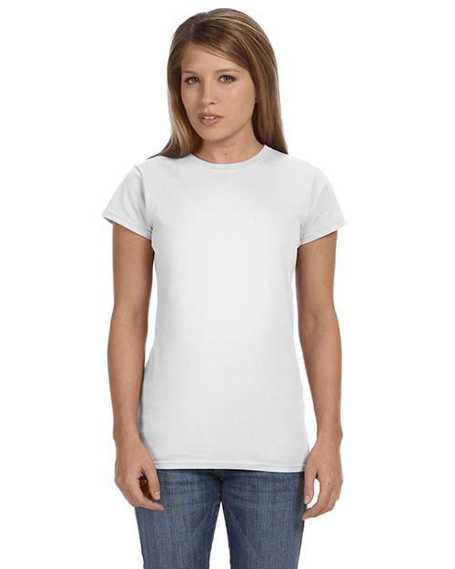 Gildan G640L Women Softstyle 4.5 oz. Fit T-Shirt White at GotApparel