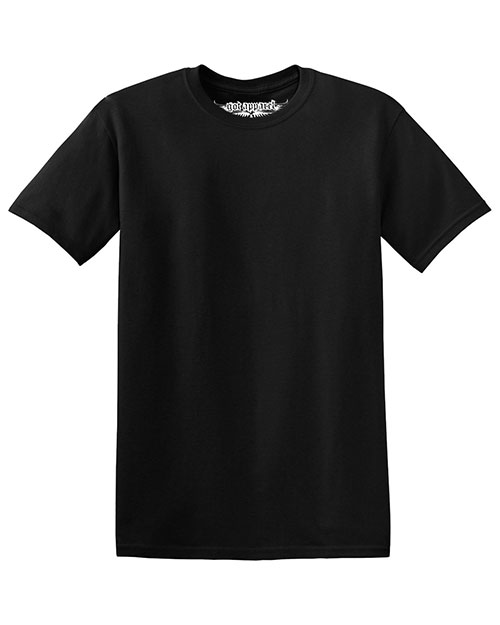 GotApparel GA500 Men 5.3 Oz Cotton Tee Black at GotApparel