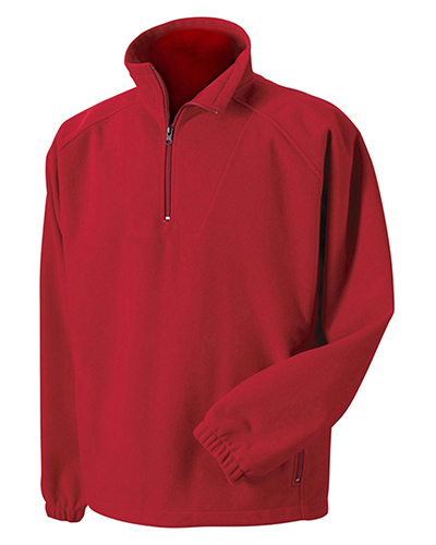 Harvard Square HS955 Booth Bay Soft Shell 1/4-Zip Fleece Pullover GARNET at GotApparel