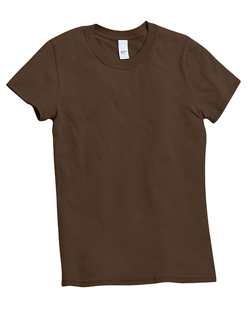 Hyp Sportswear HY100 Women Catalina Short Sleeve T-Shirt Chocolate at GotApparel