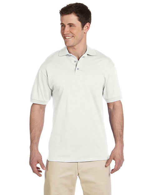 Jerzees J100  Jersey Polo WHITE at GotApparel