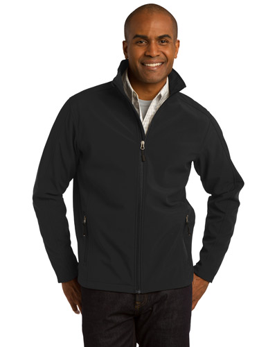 Port Authority J317 Men Core Soft Shell Jacket Black at GotApparel
