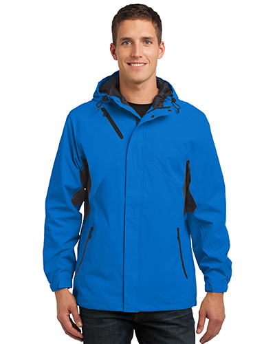 Port Authority J322 Men Cascade Waterproof Jacket Imperial Bl/Bk at GotApparel