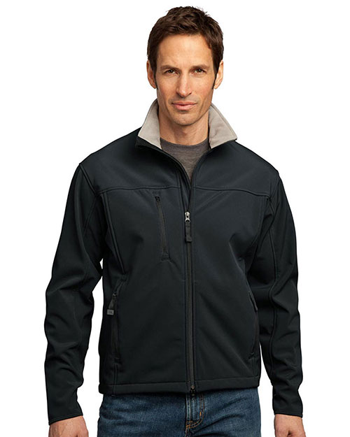 Port Authority TLJ790 Men Tall Glacier   Soft Shell Jacket Black/Chrome at GotApparel