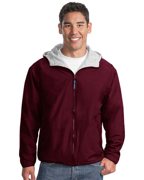 Port Authority JP56 Men Team Jacket Maroon/Ltoxf at GotApparel