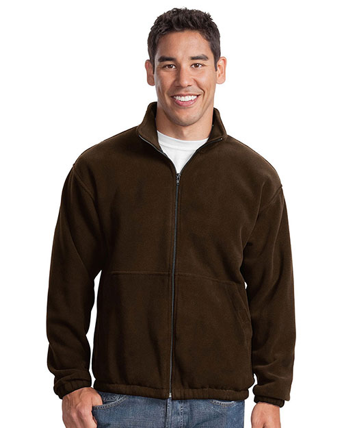 Port Authority JP77 Men RTek   Fleece FullZip Jacket Brown at GotApparel