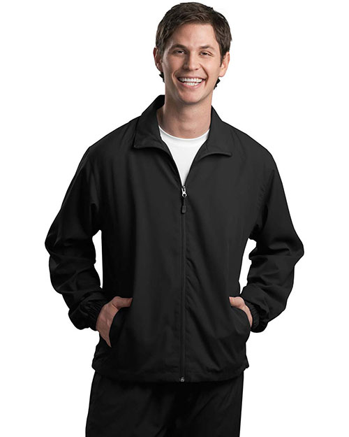 Sport-Tek JST70 Men FullZip Wind Jacket Black at GotApparel