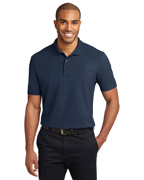 Port Authority K510 Men StainResistant Polo Navy at GotApparel