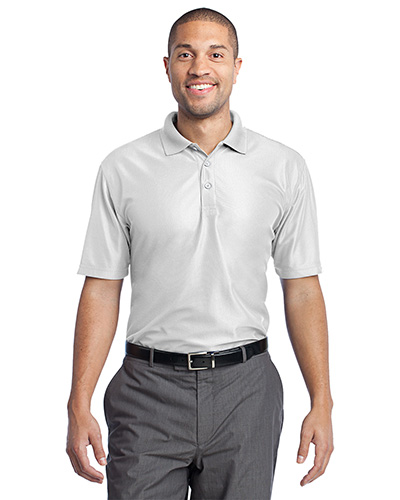 Port Authority K512 Men Performance Vertical Pique Polo White at GotApparel