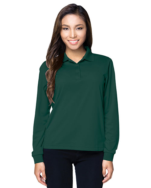 Tri-Mountain KL020LS Women Performance Vital Long-Sleeve Polo Shirt at GotApparel