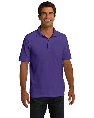 Port & Company KP150 Men Ring Spun Pique Polo Purple at GotApparel