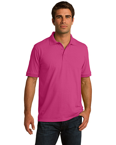 Port & Company KP55T Men Tall 55Ounce Jersey Knit Polo Sangria at GotApparel