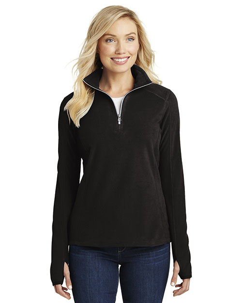Port Authority L224 Women Microfleece 1/4-Zip Pullover at GotApparel