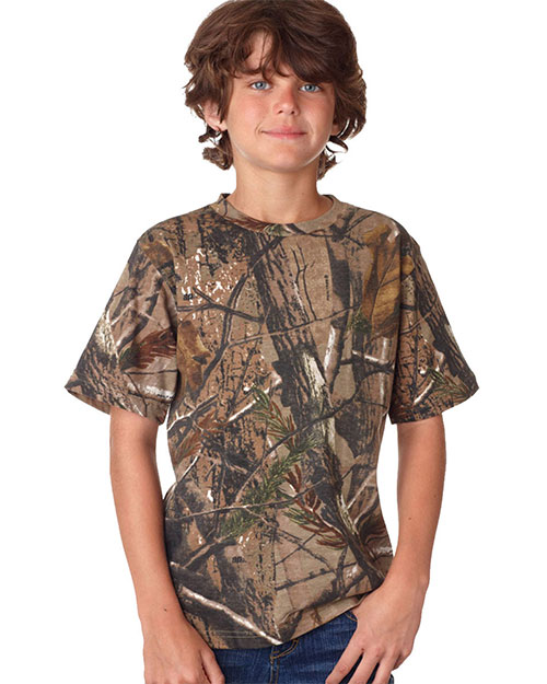 Code V L2280 Boys Realtree Camo Tee Ap Camouflage at GotApparel